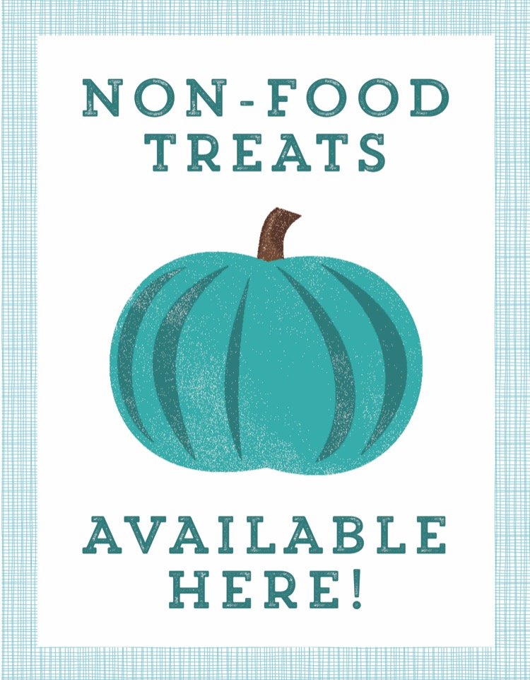 picture regarding Teal Pumpkin Printable referred to as How toward Generate Halloween Entertaining for One of a kind Necessities Small children